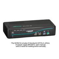 Black Box 4-Port Desktop KVM Switch, VGA, USB or PS/2, Audio, w/Cables KV7021A-K