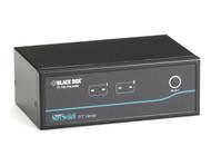 Black Box 2-Port Desktop KVM Switch, Dual-Head DVI-D, USB KV9622A