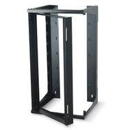 Black Box 20U Wallmount Rack, 12-24 , TAPPED RAILS Holes, 75lbs RM069A-R3