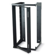 Black Box 25U Wallmount Rack, 12-24 , TAPPED RAILS Holes, 75lbs RM080A-R3