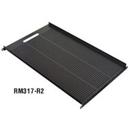 """Black Box Vented Equipment Shelf for Comm Cabinets, 17.72""""W x 30.5""""D RM317-R2"""