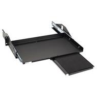 "Black Box Sliding Keyboard Shelf with Mouse Extension, 19"" Black RM382-R3"