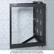 Black Box 20U Wallmount Rack, 10-32 , TAPPED RAILS Holes, 100lbs RMT072A-R2