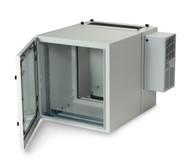 Black Box 12U NEMA12 Wallmount Cabinet w/800-BTU AC DBL Hinged GlandPlate BG RMW5110ACG-R2