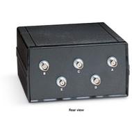 Black Box Desktop Coax BNC 4 to 1 Manual Switch SW560A-BNC