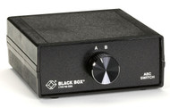Black Box Desktop DB9 2 to 1 Manual Switch FFF All Leads SWL030A-FFF