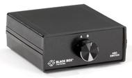 Black Box Desktop DB9 2 to 1 Manual Switch FFM All Leads SWL030A-FFM