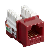 Black Box CAT5e Keystone Jack Unshielded Jack Red CAT5EJ-RD