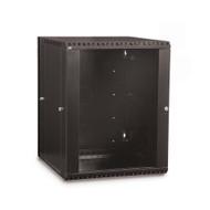 15U LINIER® Swing-Out Wall Mount Cabinet - Glass Door
