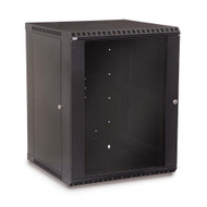 "Kendall Howard 15U LINIER 19"" Fixed Wall Mount Cabinet - Glass Door"
