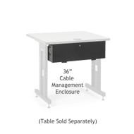 "Kendall Howard 36"" Training Table Cable Management Enclosure"
