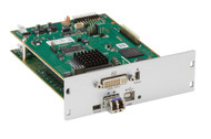 Black Box KVM Transmitter, DVI-I, USB HID, w/IR, SM Fiber, Modular Ext Card ACX1MT-DVHID-SM