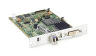 Black Box KVM Transmitter, DVI-I, USB HID, SM Fiber, Modular Extender Card ACX1MT-VDHID-SM