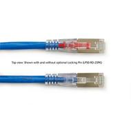 Black Box 7FT Blue CAT6A 650MHz Patch Cable F/UTP CM Locking Snagless C6APC80S-BL-07