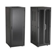 """Black Box Elite Data Cabinet, 72""""H (38U) x 30""""W x 32""""D, 10-32 Rails, PLEXIGLAS F EC38U3032TPMS6NK"""