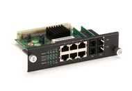 Black Box Modular Express Ethernet Switch, 6-Port Copper RJ-45, 2-Port Multi LB9218A