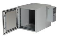 Black Box 12U NEMA12 Wallmount Cabinet w/ 800-BTU AC DBL Hinged Beige RMW5110AC-R2