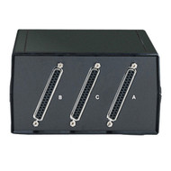 Black Box Desktop DB37 2 to 1 Manual Switch FFF All Leads SWL350A-FFF