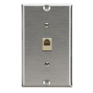 Black Box Stainless Steel Wallplate with Phone Jack WP367