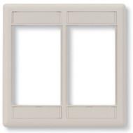 Black Box Office White Double-Gang Modular Wallplate WP562