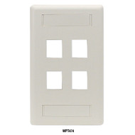 Black Box 1-Port Office White Single-Gang Keystone Wallplate WPT456