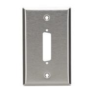 Black Box 1-Port DB25 Single-Gang Stainless Steel Wallplate WP020