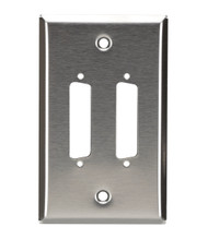 Black Box 2-Port DB25 Single-Gang Stainless Steel Wallplate WP040