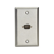 Black Box AV Stainless Steel Wallplate, 1 HDMI, Female to Female WP831