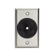"Black Box A/V Stainless Wallplate, Single-Gang, Rubber Grommet, 1 / 4 "" -1 3 / 4 WP841"