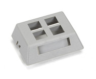 Black Box 4-Port Gray Modular Furniture Wallplate WPT473-MF