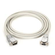 Black Box RS232 Shielded Null Modem Cable w/ Metal Hoods DB9M/F 6Ft. EYN257T-0006-MF