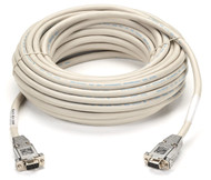 Black Box RS232 Shielded Null Modem Cable w/ Metal Hoods DB9F/F 50Ft. EYN257T-0050-FF