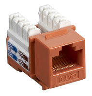 Black Box CAT6 Keystone Jack Unshielded Jack Orange CAT6J-OR