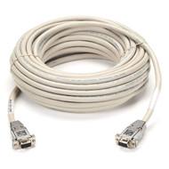 Black Box RS232 Shielded Null Modem Cable w/ Metal Hoods DB9F/F 25Ft. EYN257T-0025-FF