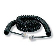Black Box 12-ft. Black Coiled Telephone Handset Cord EJ300-0012