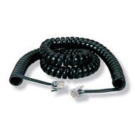 Black Box 25-ft. Black Coiled Telephone Handset Cord EJ300-0025