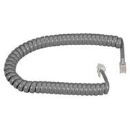 Black Box Telephone Coiled Handset Cord Dark Gray 25Ft. EJ302-0025