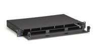 Black Box Rackmount Fiber Enclosure 1U Non-Locking 3 Slot Adapter JPM427A-R2