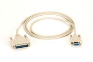 Black Box RS232 At Modem Cable DB9F/DB25M 6Ft. BC03000-0006-MF