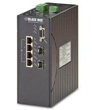 Black Box Hardened Managed Ethernet Switch, (4) 10/100-Mbps PoE+, (2) 100-Mb LEH1104A-2SFP