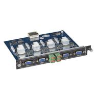 Black Box Modular Video Matrix Switcher Input Card - VGA, Component, Composi AVS-4I-VGA