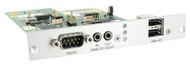 Black Box KVM Receiver, 2-way Audio, RS232, USB HID, Expansion Card, Mod Ext ACX1MR-ARH