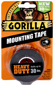 Gorilla Brand Mounting Tape, Holds up to 30 LBS