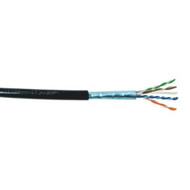 Cat5e Shielded Direct Burial Cable 1000' Box - Black