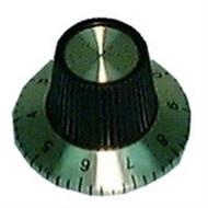 Philmore 3020 Straight Knurl Knob 0-9 Numbers On Skirt for 1/4 Shaft (lkg_3020)
