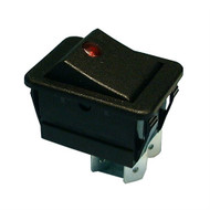 Philmore 30-866 Lighted Rocker Switch  DPST 20A @125V Black w/Red Neon (lkg_30-866)