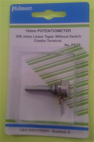 Philmore PC75 Miniature Potentiometer 50K Linear 16mm lkg_PC75