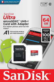 SanDisk Ultra 64GB MicroSD Card with SD Adapter