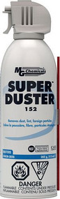 This general purpose duster is used for removing dust; lint and foreign particles in electronics and other equipments.  This product is not designed for use near ignition sources.  For cleaning in such circumstances; use MG Chemicals' special application
