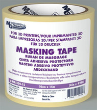 "MASKING TAPE, 4"" x 50 ft, HIGH TEMPERATURE, FOR 3D PRINTING (mg_MAS100-15)"
